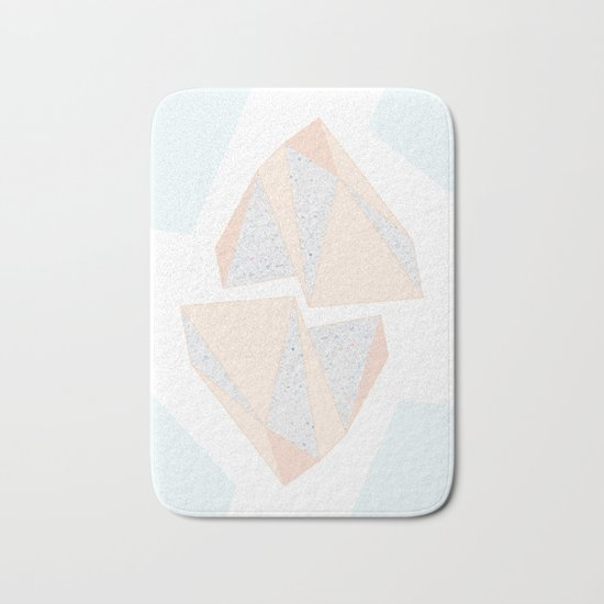 Abstract Iceberg Inspired with Terrazzo Patterns Bath Mat