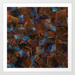 Frsgments In Bronze - Abstract Textured Art Art Print