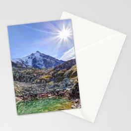 Mont Blanc Glacier Lake Stationery Cards