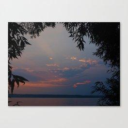 Sky Over Lake at Dusk Canvas Print