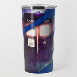Blue tardis 01 Travel Mug