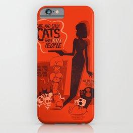 Cat Movie - orange iPhone Case