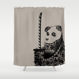 Yakuza Panda Shower Curtain