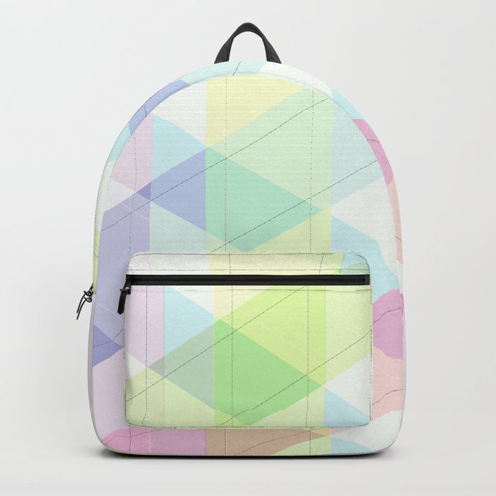 Geometric patchwork 4 Backpack