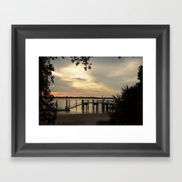Delightful Dock Framed Art Print