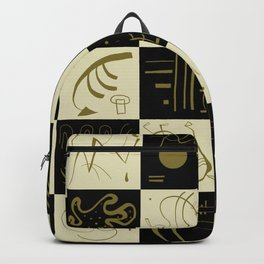 Kandinsky - Black and Gold Pattern - Abstract Art Backpack