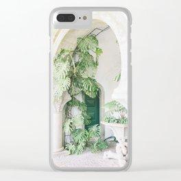 monstera print, botanical print, plant, portugal print, sintra print, minimalist print, plant print Clear iPhone Case