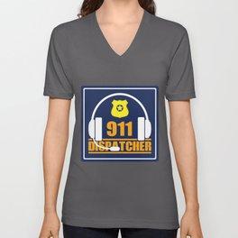 911 Dispatcher | Police Ambulance EMS EMT Emergency Job product Unisex V-Neck