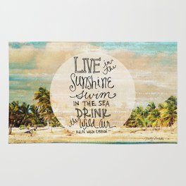 Live In The Sunshine - Photo Inspiration Rug