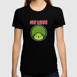My Love Green Beans Soybean Cartoony Anime Gift T-shirt