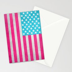 USA Flag Stationery Cards