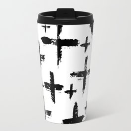 Pattern with brush cross and strokes Travel Mug