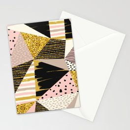 Triangle Pattern, Dots, Stripes, Abstract Design Stationery Cards