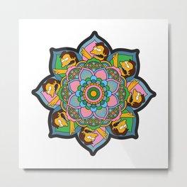 The Nelson Mandala Metal Print