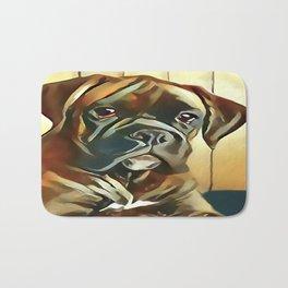 The Boxer Pup Bath Mat