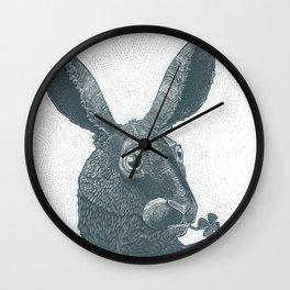 lepus cum clover Wall Clock