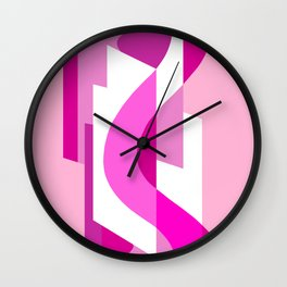 SUISSE - Art Deco Modern: PINK PANACHE Wall Clock