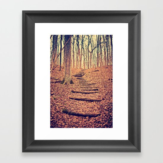 Path in the Woods Framed Art Print