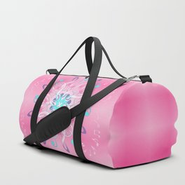 Music Notes In Pink Duffle Bag
