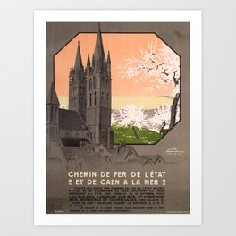 retro iconic De Caen a la Mer poster Art Print
