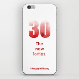 AgeIsJustANumber-30-StrawberryPopB iPhone Skin