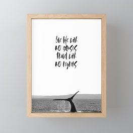 no regrets Framed Mini Art Print