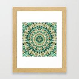 Luna Moth Kaleidoscope Framed Art Print