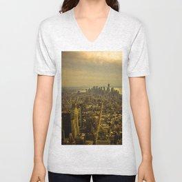 Manhattan,New York Unisex V-Neck