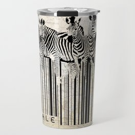 Zebra Barcode Travel Mug