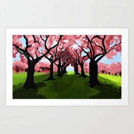 Lanscape(Trees) Art Print