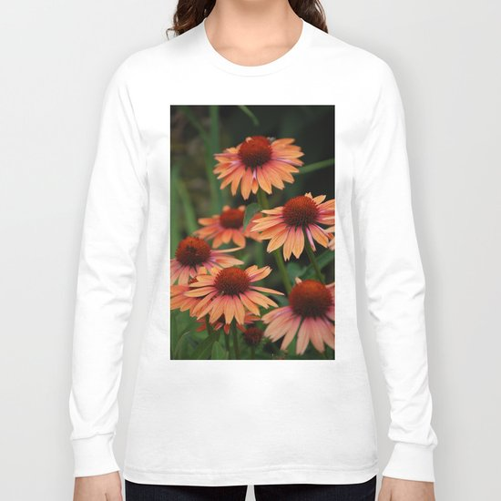 Orange Cone flowers Long Sleeve T-shirt
