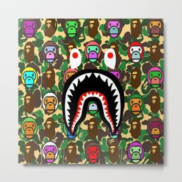 bape monkeys Metal Print