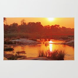 Perfect african morning, wildlife Rug