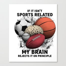 Sports Related Canvas Print