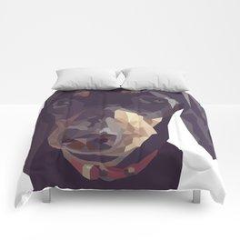 Geometric Sausage Dog Digitally Created Comforters