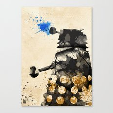 Doctor Who Dalek Rustic Canvas Print