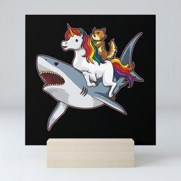 Shark Unicorn Cat - Awesome Friendship Mini Art Print