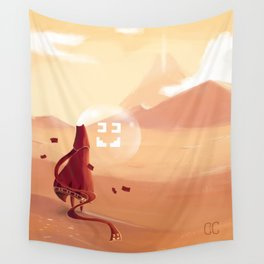 The journey of the brave knight  Wall Tapestry