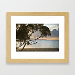 Hillside view of Santa Cruz Island Framed Art Print