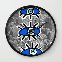 Eyes on Manhattan Wall Clock