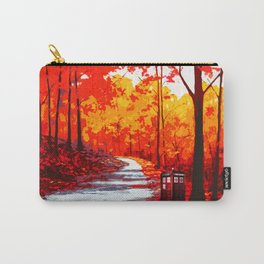 Tardis Art Autumn Tree Painting Carry-All Pouch