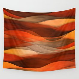 """Sea of sand and caramel waves"" Wall Tapestry"