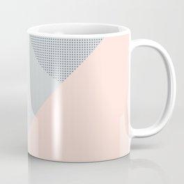 80's Retro Pattern in Dusty Rose & Grey Coffee Mug