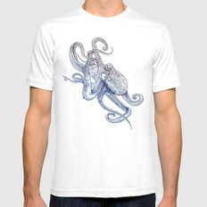 Octo Flow MEDIUM Mens Fitted Tee White