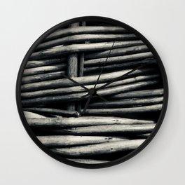 noir basket Wall Clock
