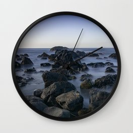 Volcanic rocks in Atlantic ocean Wall Clock