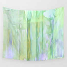 Cool Waves Of Color Abstract Wall Tapestry