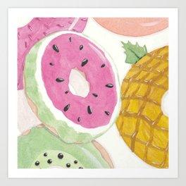 Seasonal Donuts-Summer Art Print