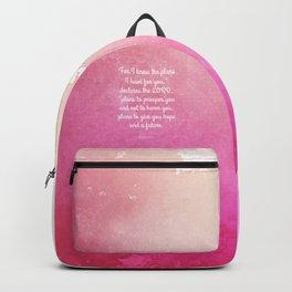 Jeremiah 29:11, Encouraging Bible Verse Backpack