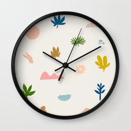 Abstraction_Nature_Wonderful_Day_02 Wall Clock